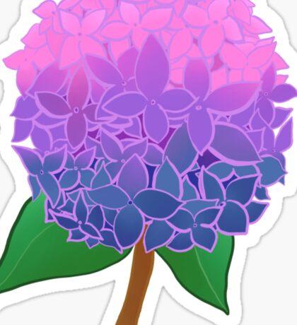 Pride Flowers- Bi Hydrangeas Sticker