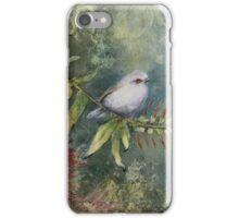 Grey Warbler in Bottle Brush iPhone Case/Skin