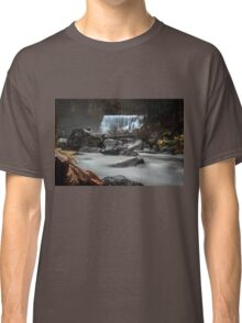 End of Fall waterfall photograph Classic T-Shirt