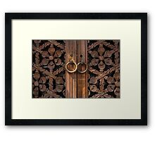 Traditional Korean Wooden Doors - Seoul Framed Print