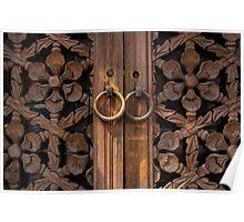 Traditional Korean Wooden Doors - Seoul Poster