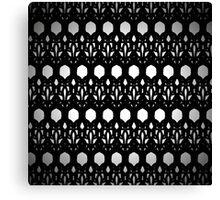 Black Eyelit Forged lace Canvas Print