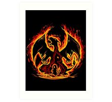 Charizard fire evolutions cool design Art Print