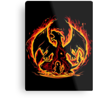 Charizard fire evolutions cool design Metal Print