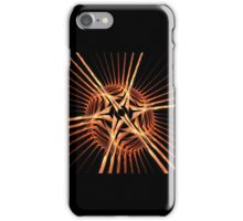 Fun bright geometric abstraction in aggressive style iPhone Case/Skin