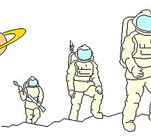 Astronauts In Space by kwg2200