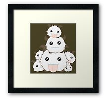 Poro Party - League of Legends Framed Print