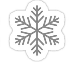snowflakes for christmas Sticker