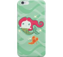 Lil' Red Mermaid and Lobster iPhone Case/Skin