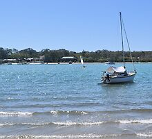 A Day on the River at Noosaville by Margaret Stevens