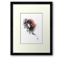Ninja warrior, japanese samurai warriors Framed Print