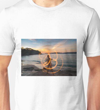 Fire play at sunrise Unisex T-Shirt