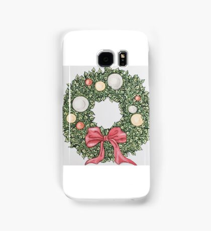 Red Ribbon Wreath (muted) Samsung Galaxy Case/Skin