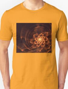 Interesting  abstract background in brown and golden tones  Unisex T-Shirt