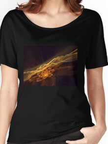 Interesting  abstract background in brown and golden tones  Women's Relaxed Fit T-Shirt