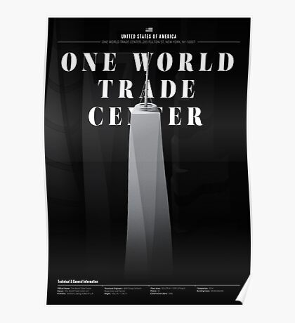 One World Trade Center Black Edition Poster