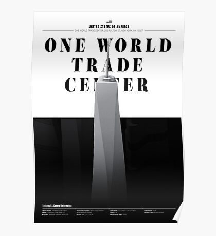One World Trade Center White Edition Poster