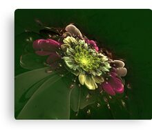 Interesting intriguing abstract background in the form of a stylized flower Canvas Print