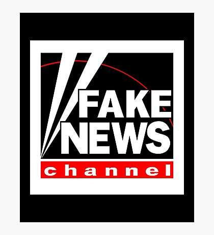 News Shirt from the Fake News Network Funny And Sarcastic T-Shirt Photographic Print
