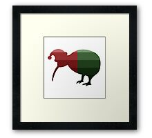 Santa Kiwi in Christmas Ombre Framed Print