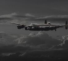 Lancaster - 'No more......bomber's moon' by Pat Speirs