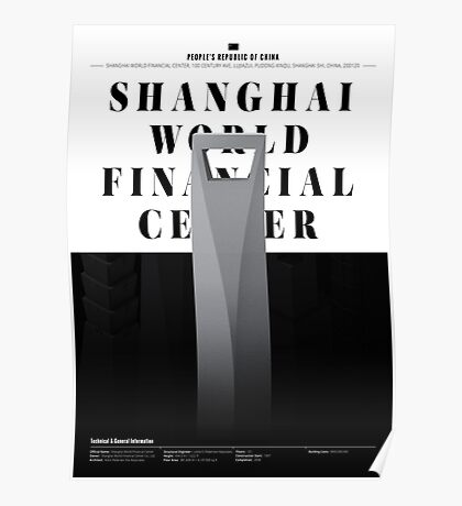 Shanghai World Financial Center White Edition Poster