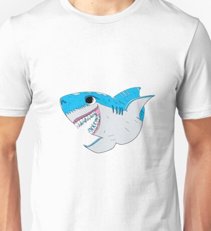Happy Shark - Scarred and Beautiful Unisex T-Shirt