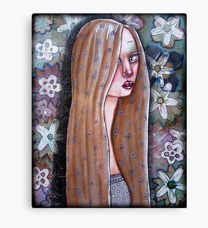 Natural Contemplation Girl 1 Canvas Print