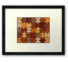 Puzzle Wood V2.0 Framed Print