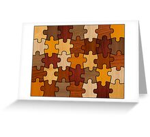 Puzzle Wood V2.0 Greeting Card