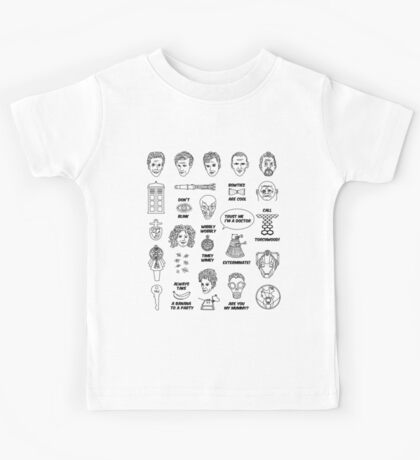 Doctor Who Collective Illustration Kids Tee