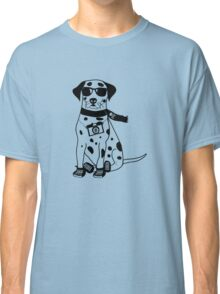 Hipster Dalmatian - Cute Dog Cartoon Character Classic T-Shirt