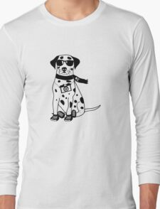 Hipster Dalmatian - Cute Dog Cartoon Character Long Sleeve T-Shirt