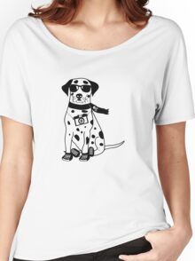 Hipster Dalmatian - Cute Dog Cartoon Character Women's Relaxed Fit T-Shirt