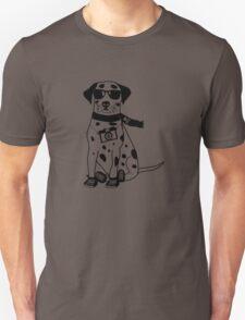Hipster Dalmatian - Cute Dog Cartoon Character Unisex T-Shirt