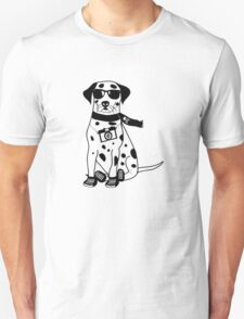 Hipster Dalmatian - Cute Dog Cartoon Character T-Shirt