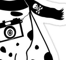 Hipster Dalmatian - Cute Dog Cartoon Character Sticker