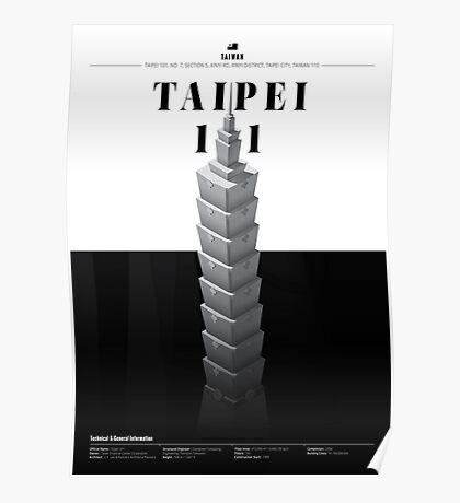 Taipei 101 White Edition Poster