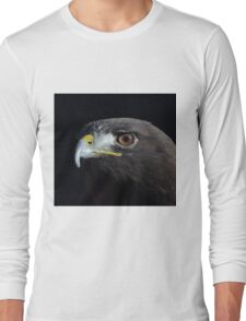 Hawk on Black  Long Sleeve T-Shirt