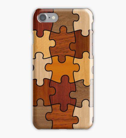 Puzzle Wood V2.0 iPhone Case/Skin