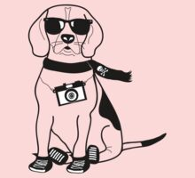 Hipster Beagle - Cute Dog Cartoon Character Kids Clothes