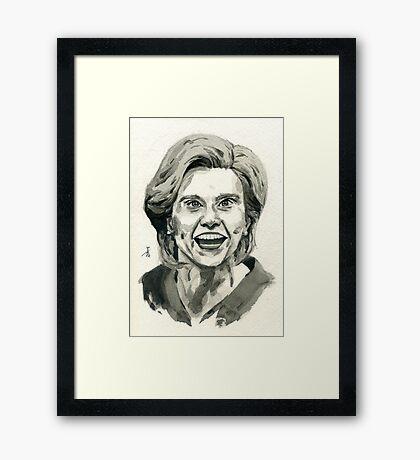 Kate McKinnon as SNL Hillary Clinton  Framed Print