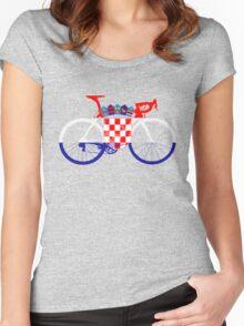 Bike Flag Croatia (Big) Women's Fitted Scoop T-Shirt