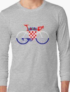 Bike Flag Croatia (Big) Long Sleeve T-Shirt