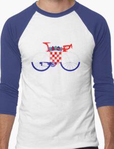 Bike Flag Croatia (Big) Men's Baseball ¾ T-Shirt