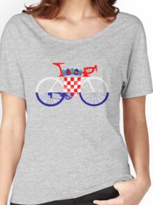 Bike Flag Croatia (Big) Women's Relaxed Fit T-Shirt