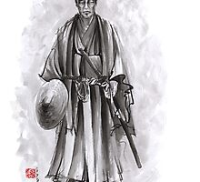 Japanese samurai warrior, feudal japan warriors by Mariusz Szmerdt