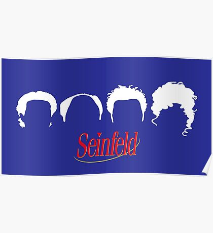 Seinfeld silhouettes  Poster