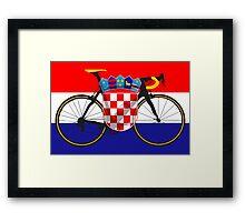 Bike Flag Croatia (Big - Highlight) Framed Print