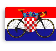 Bike Flag Croatia (Big - Highlight) Canvas Print
